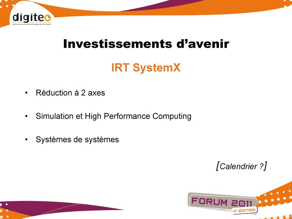 Simulation et High Performance