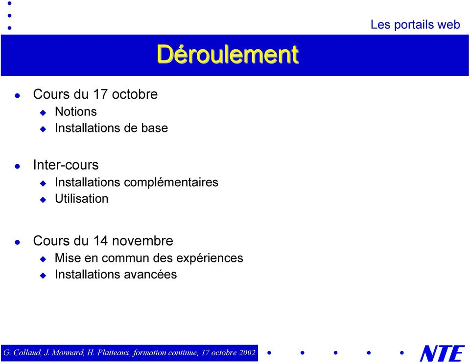"Inter-cours "" Installations complémentaires """