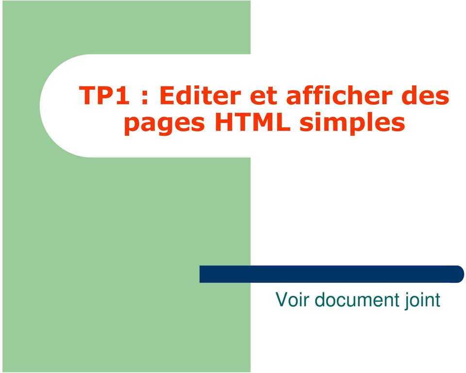 pages HTML