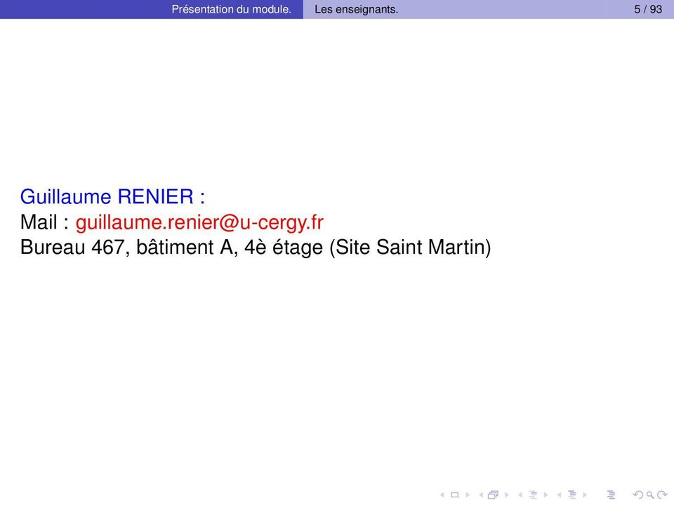 5 / 93 Guillaume RENIER : Mail :