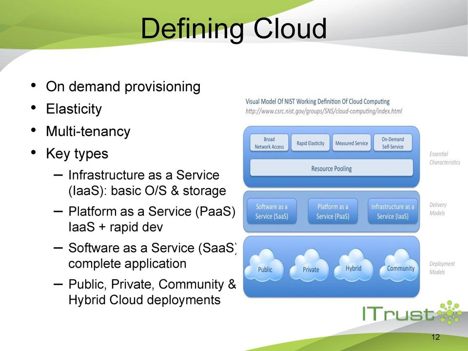 as a Service (PaaS): IaaS + rapid dev Software as a Service (SaaS):