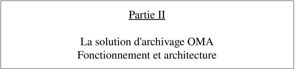 d'archivage OMA