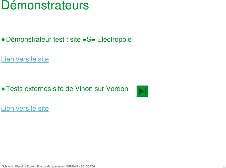 le site Tests externes site de