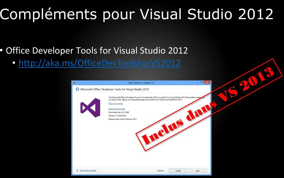 Tools for Visual Studio 2012