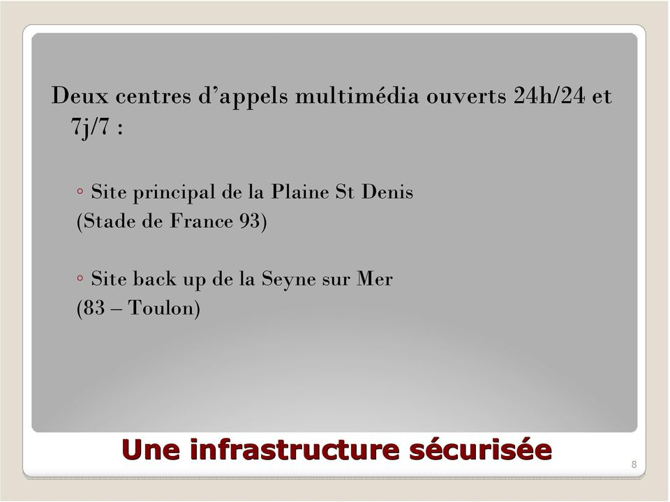 (Stade de France 93) Site back up de la Seyne sur