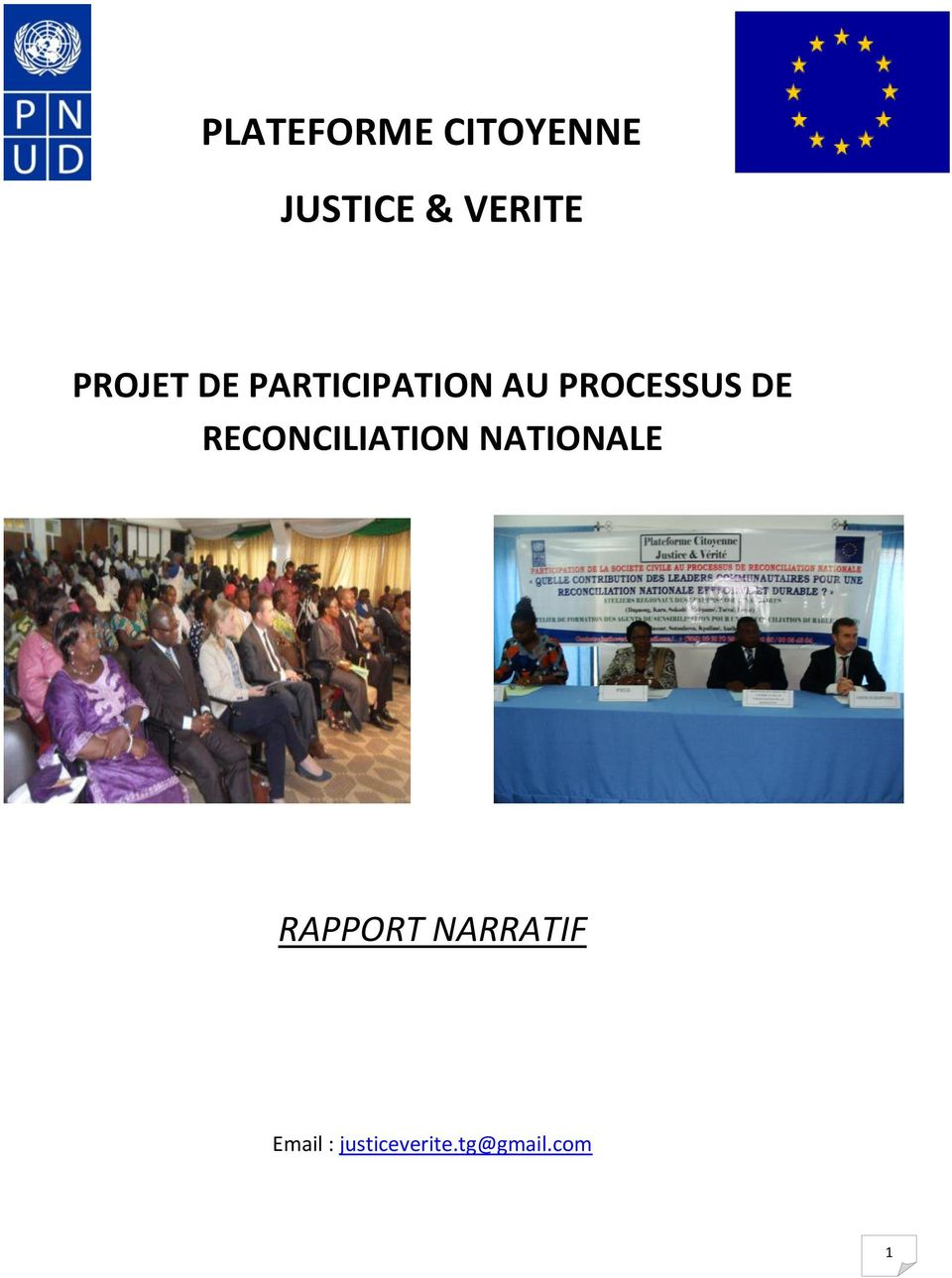 DE RECONCILIATION NATIONALE RAPPORT