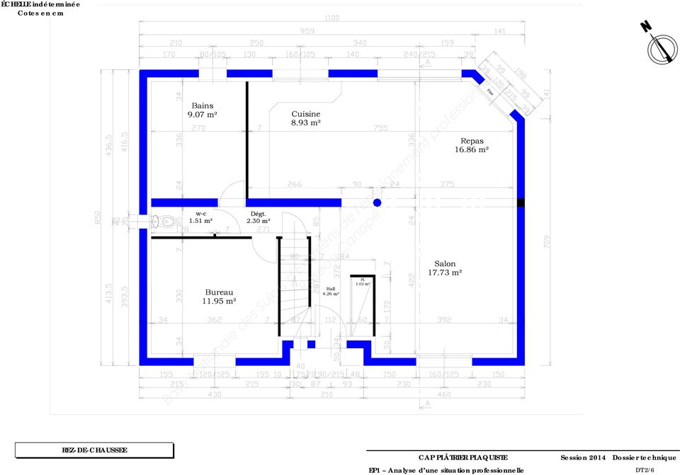 93 m² Hall 4.26 m² Pl. 1.02 m² Salon 17.