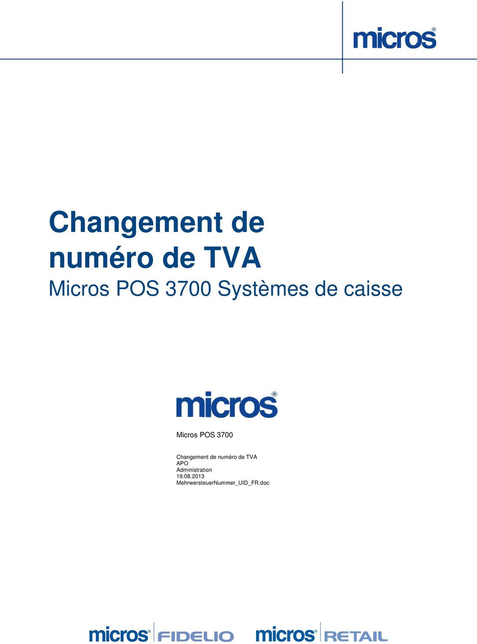 caisse Micros POS 3700