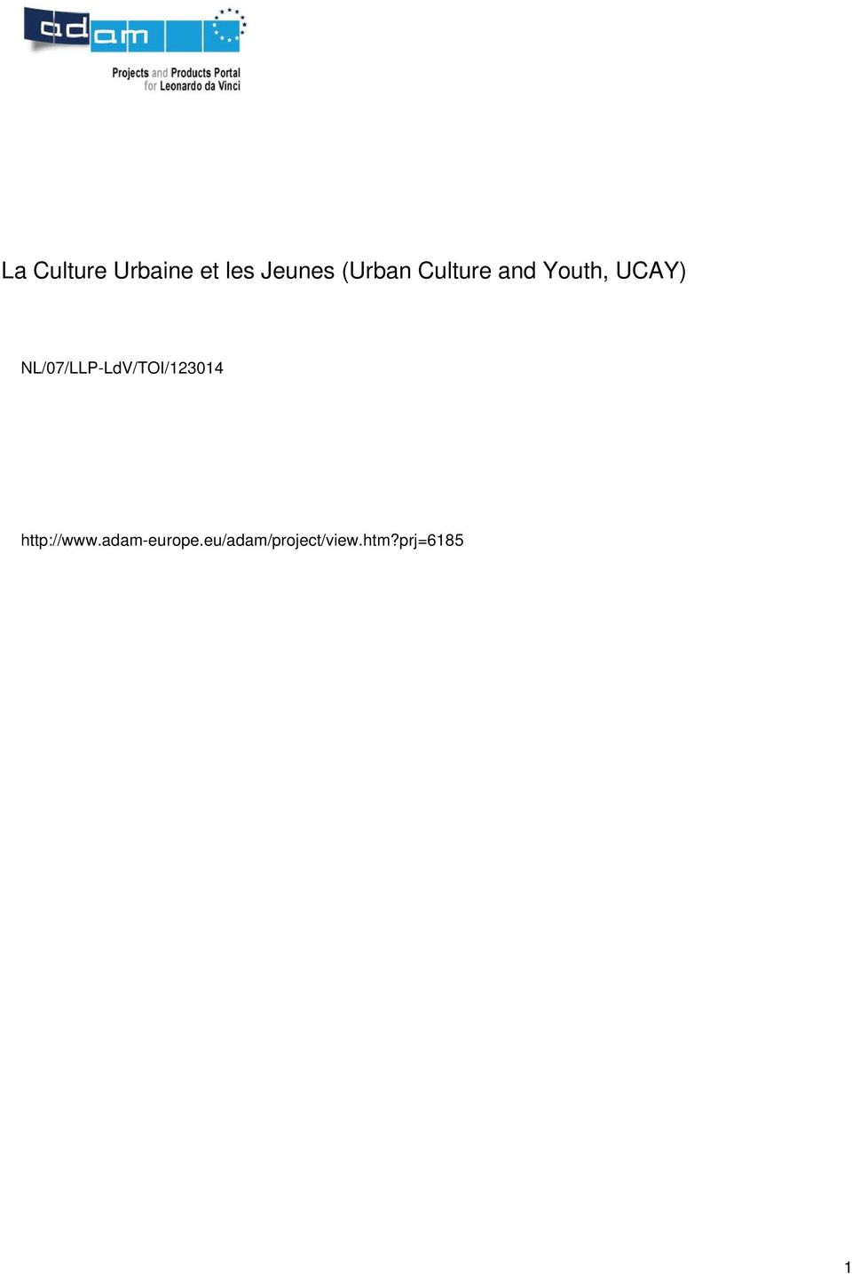 Culture and Youth,