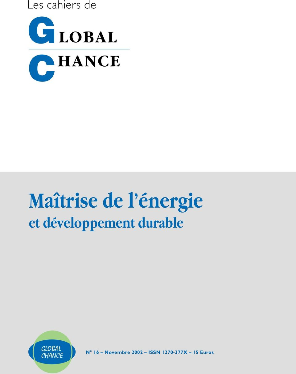 développement durable GLOBAL