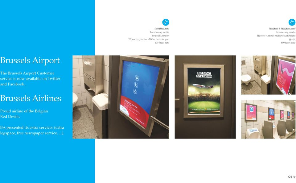 Airlines multiple campaigns TBWA 800 faces aero Brussels Airport The Brussels Airport Customer