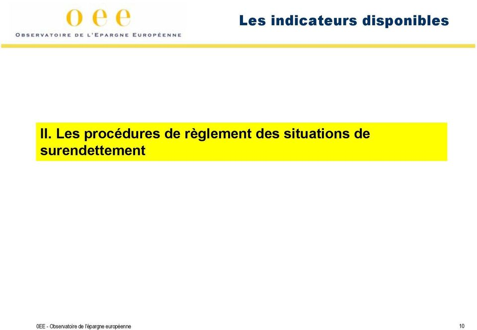 situations de surendettement 0EE -