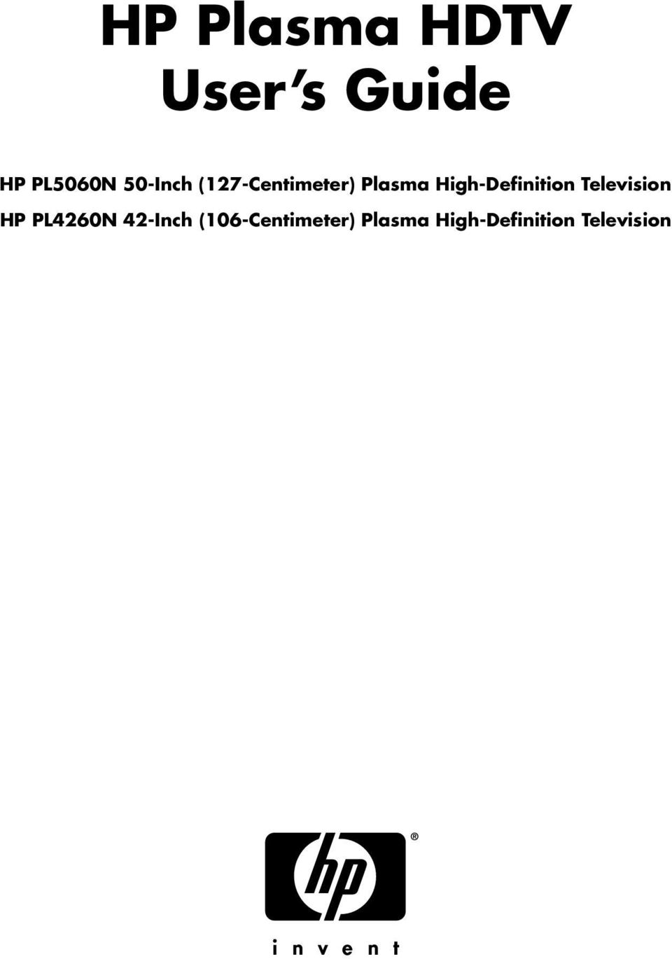 High-Definition Television HP PL4260N