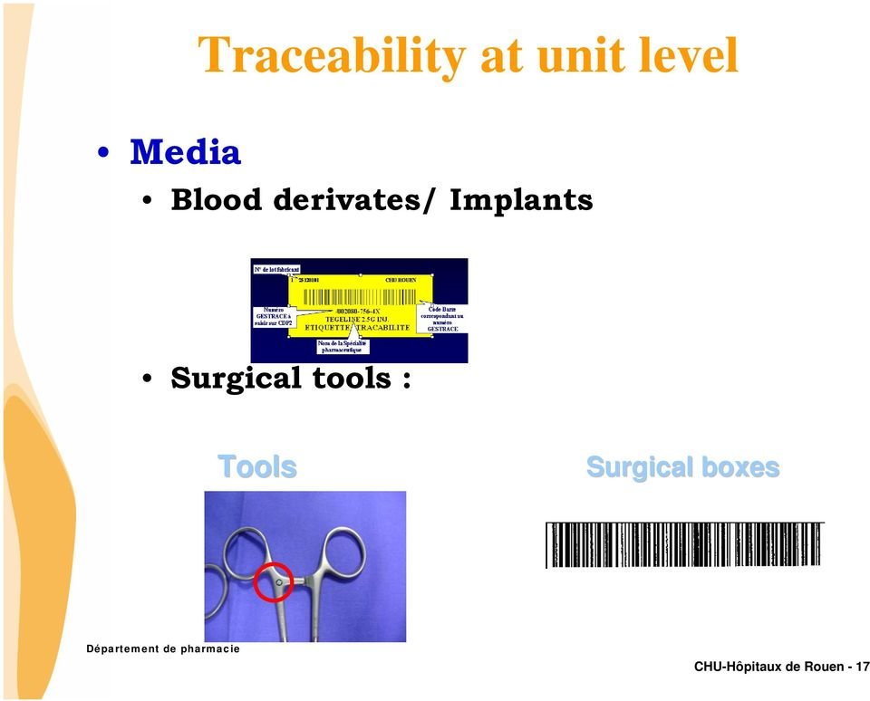 Implants Surgical tools :