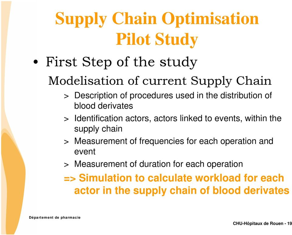 supply chain > Measurement of frequencies for each operation and event > Measurement of duration for each operation