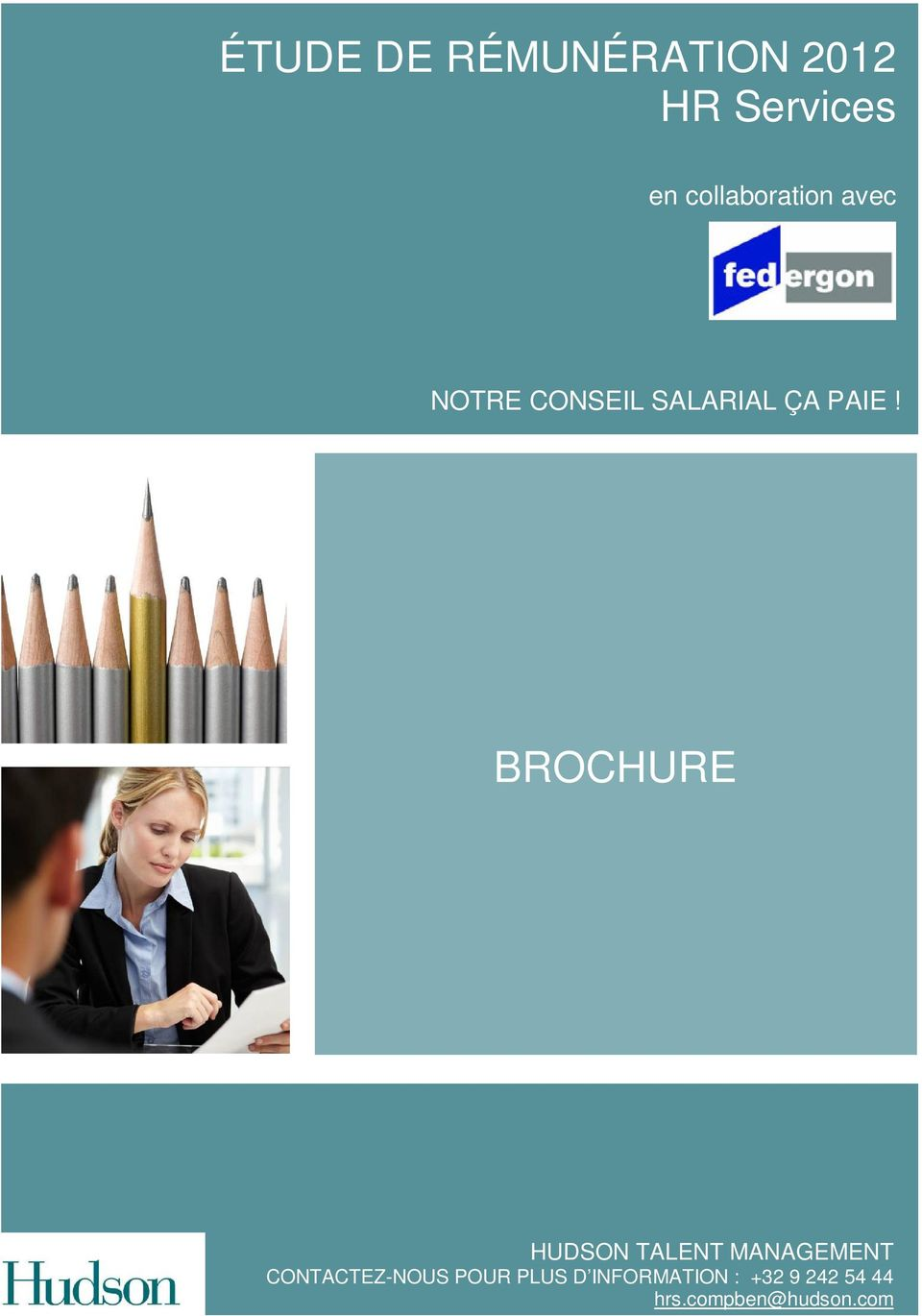 BROCHURE HUDSON TALENT MANAGEMENT CONTACTEZ-NOUS