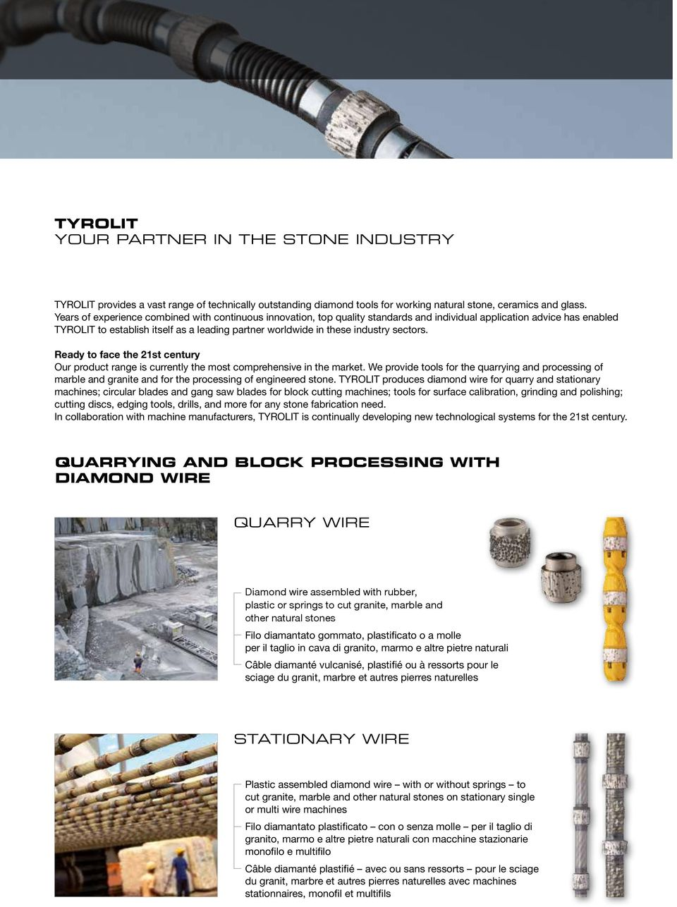 industry sectors. Ready to face the 21st century Our product range is currently the most comprehensive in the market.