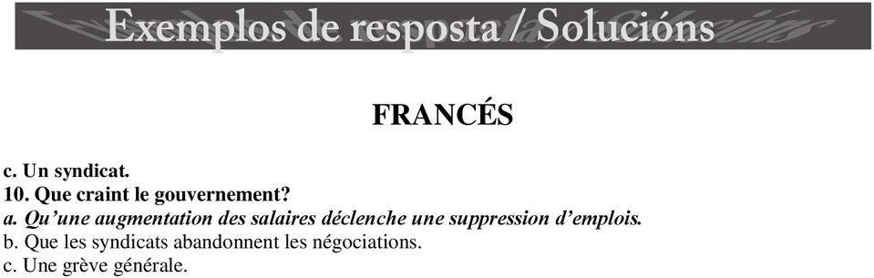 une suppression d emplois. b.