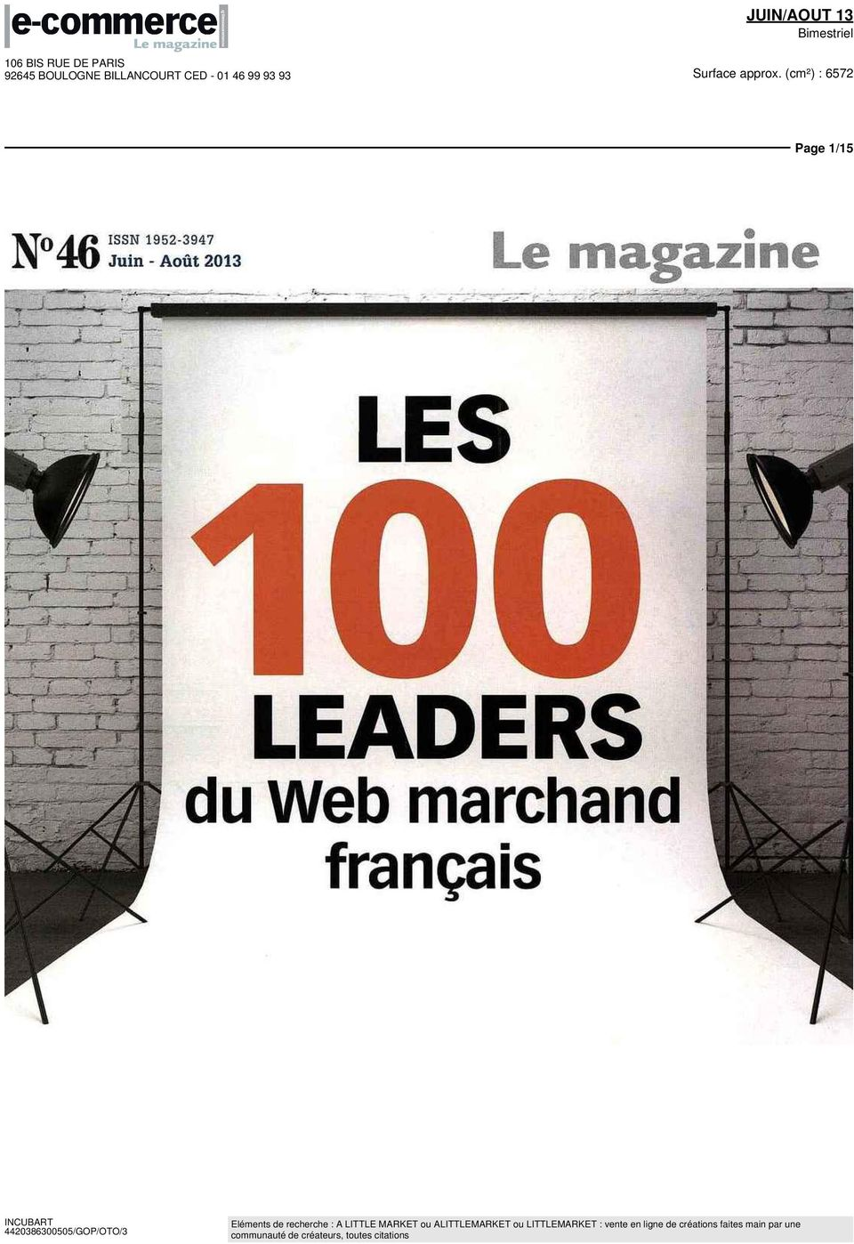 - Aût 01 Le magazine LES LEADERS du Web
