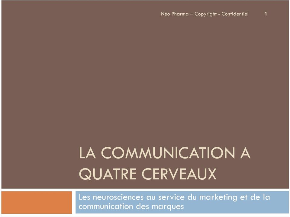 au service du marketing et