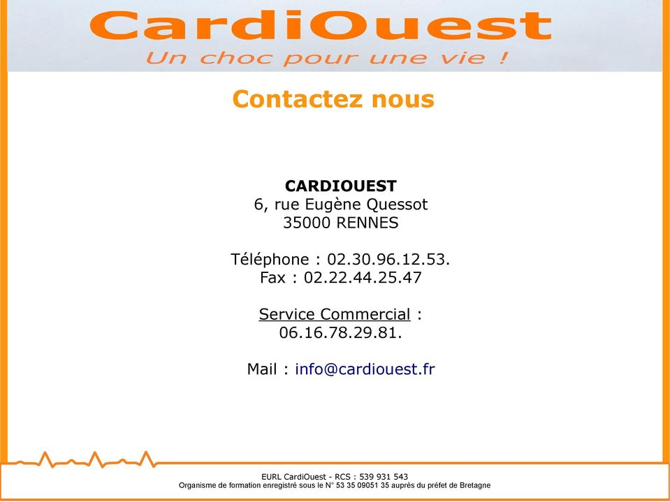 Mail : info@cardiouest.
