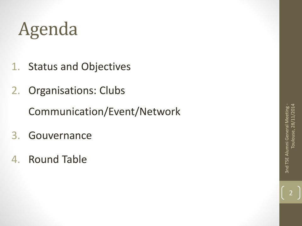 Organisations: Clubs