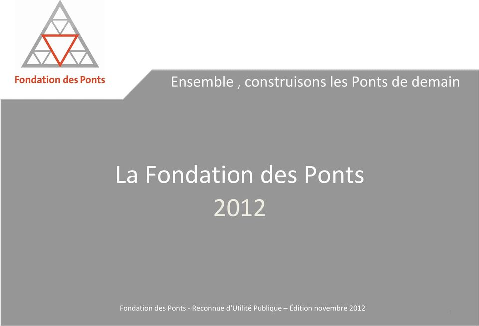 Ponts de demain