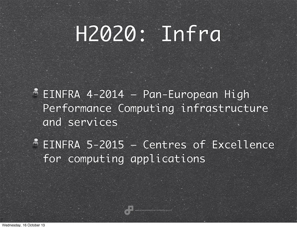 infrastructure and services EINFRA