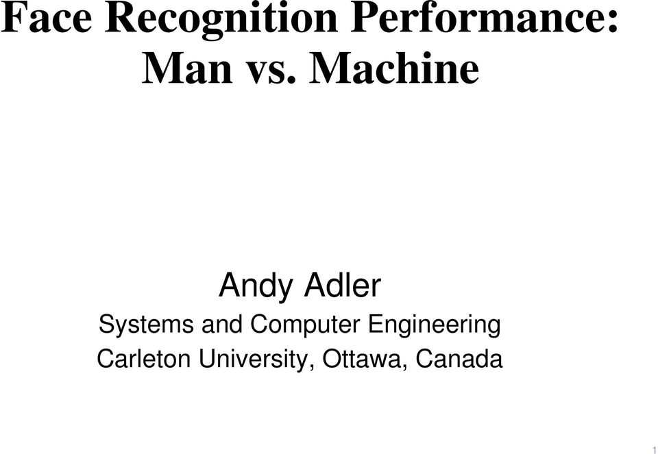 Machine Andy Adler Systems and