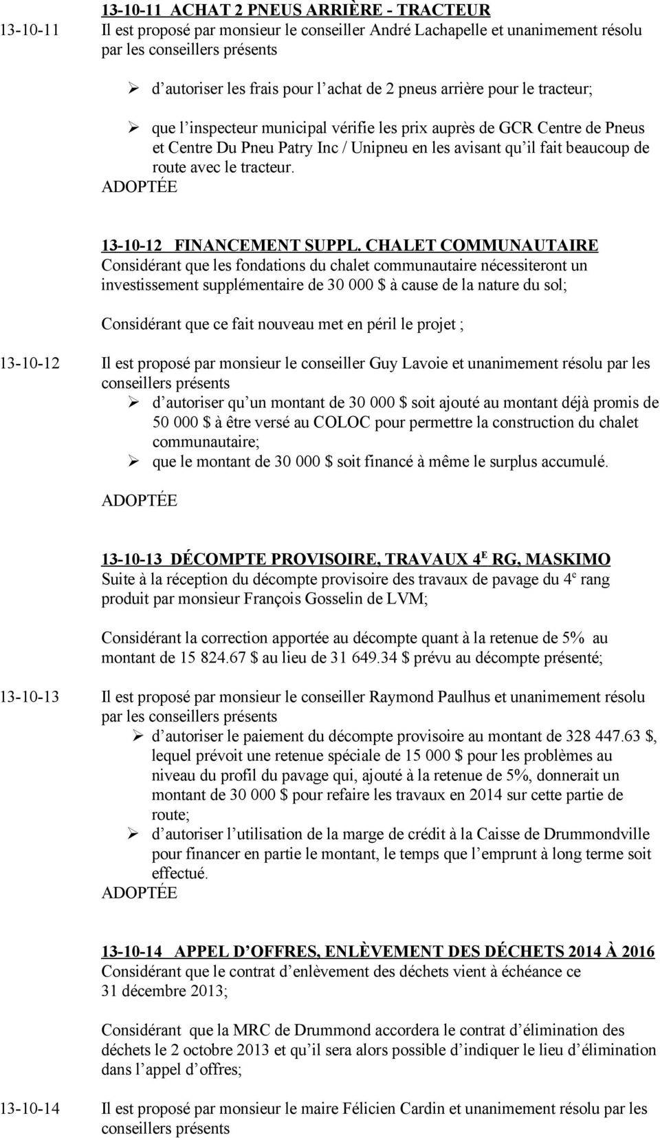 13-10-12 FINANCEMENT SUPPL.