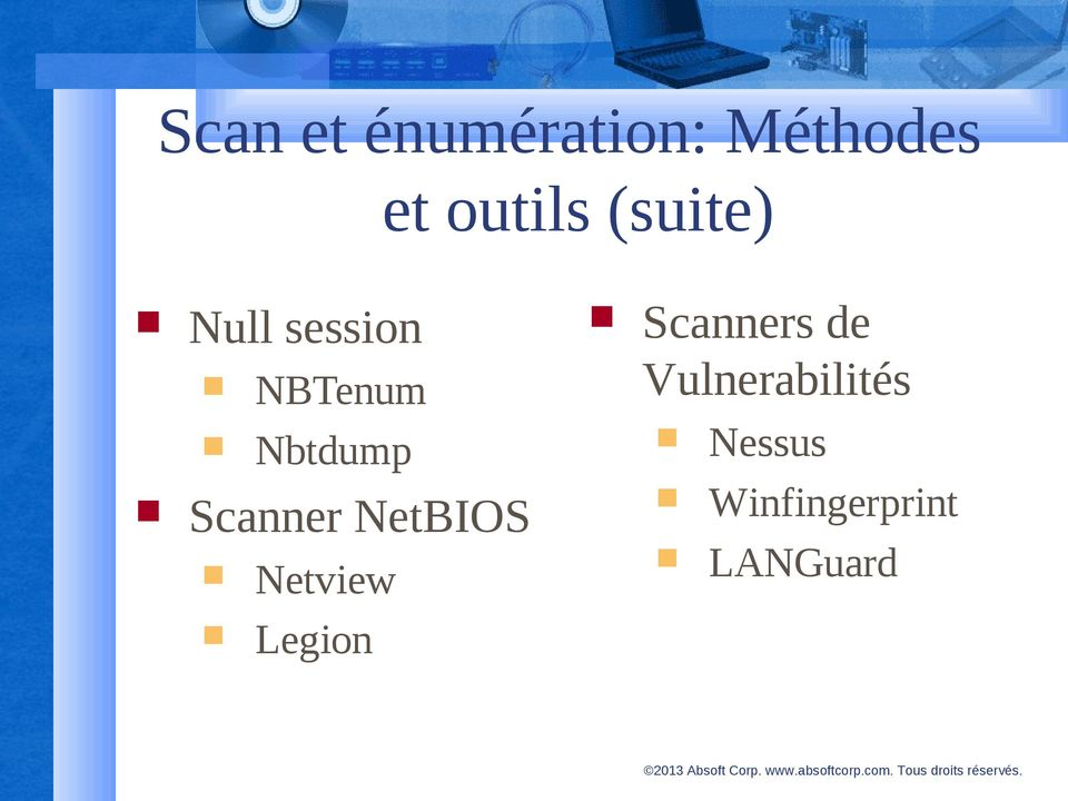 Scanner NetBIOS Netview Legion Scanners