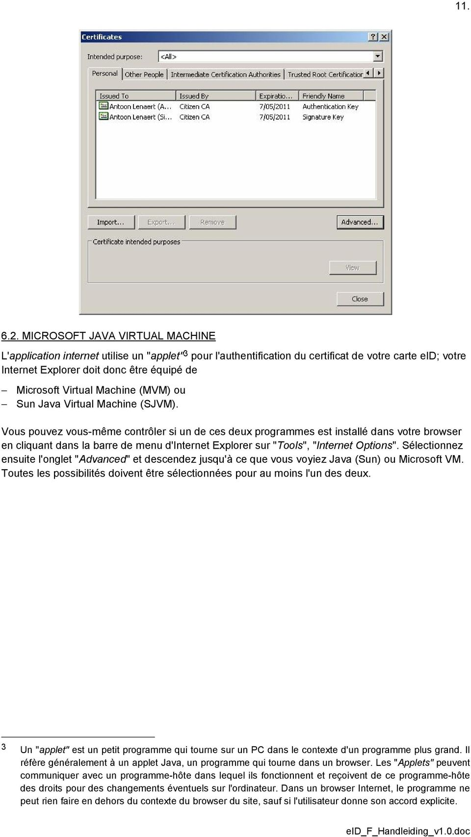 Virtual Machine (MVM) ou Sun Java Virtual Machine (SJVM).