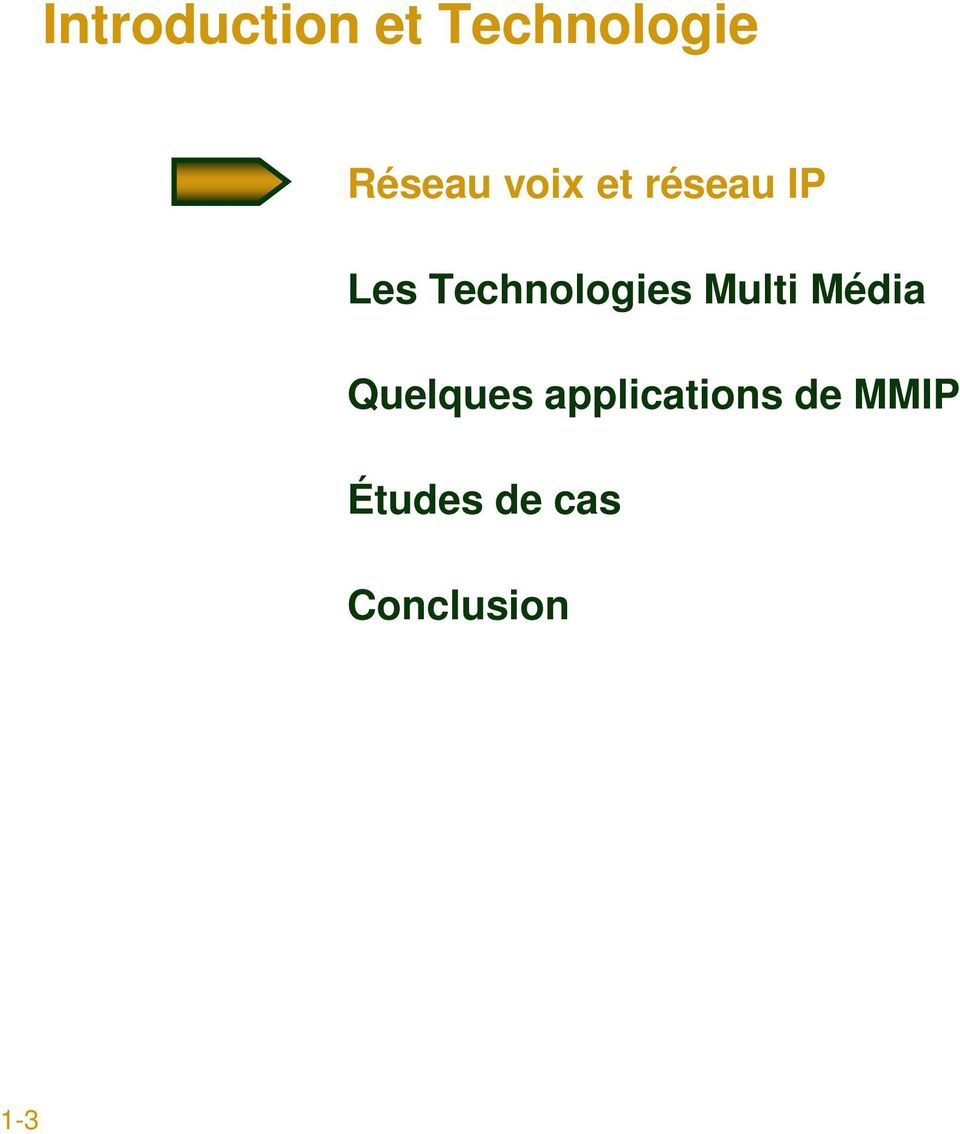 Multi Média Quelques applications