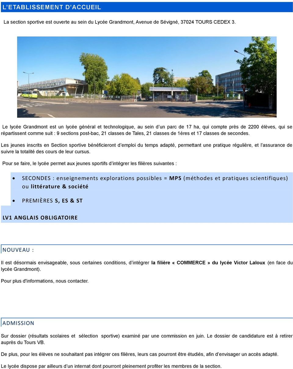 classes de 1ères et 17 classes de secondes.