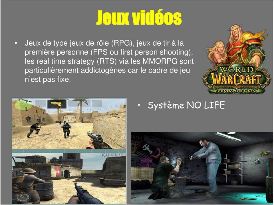real time strategy (RTS) via les MMORPG sont
