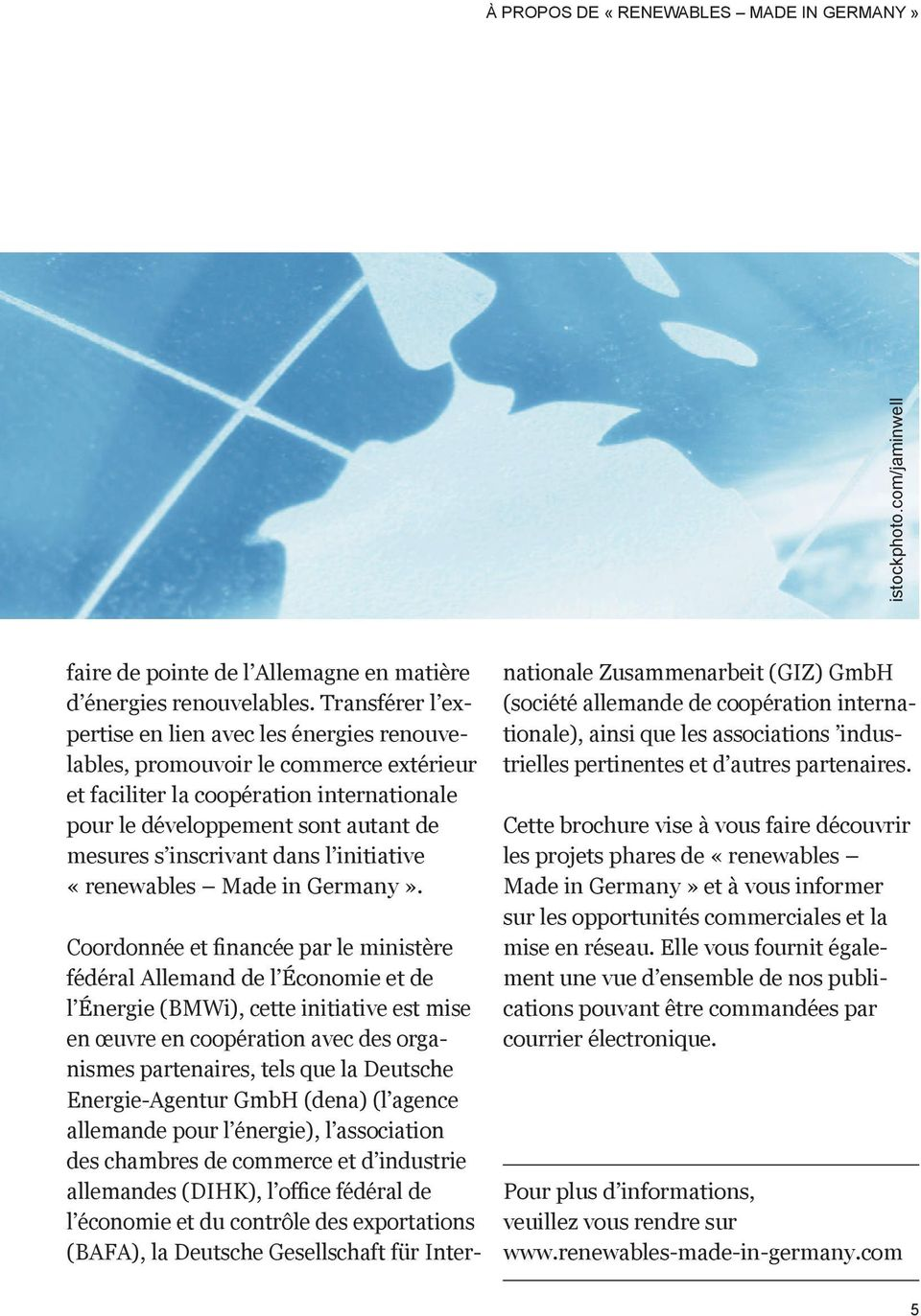dans l initiative «renewables Made in Germany».