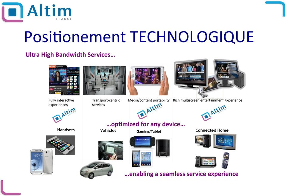 Media/content portability Rich mul)screen entertainment experience