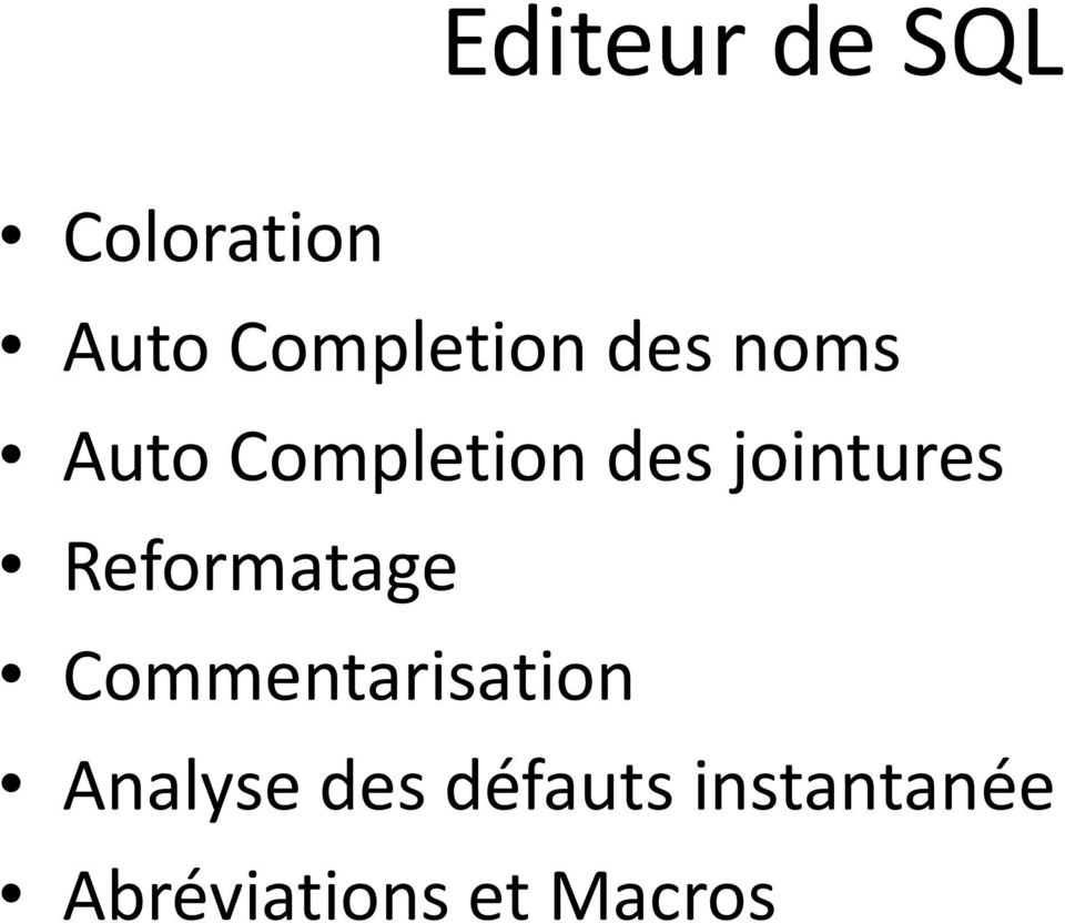 jointures Reformatage Commentarisation