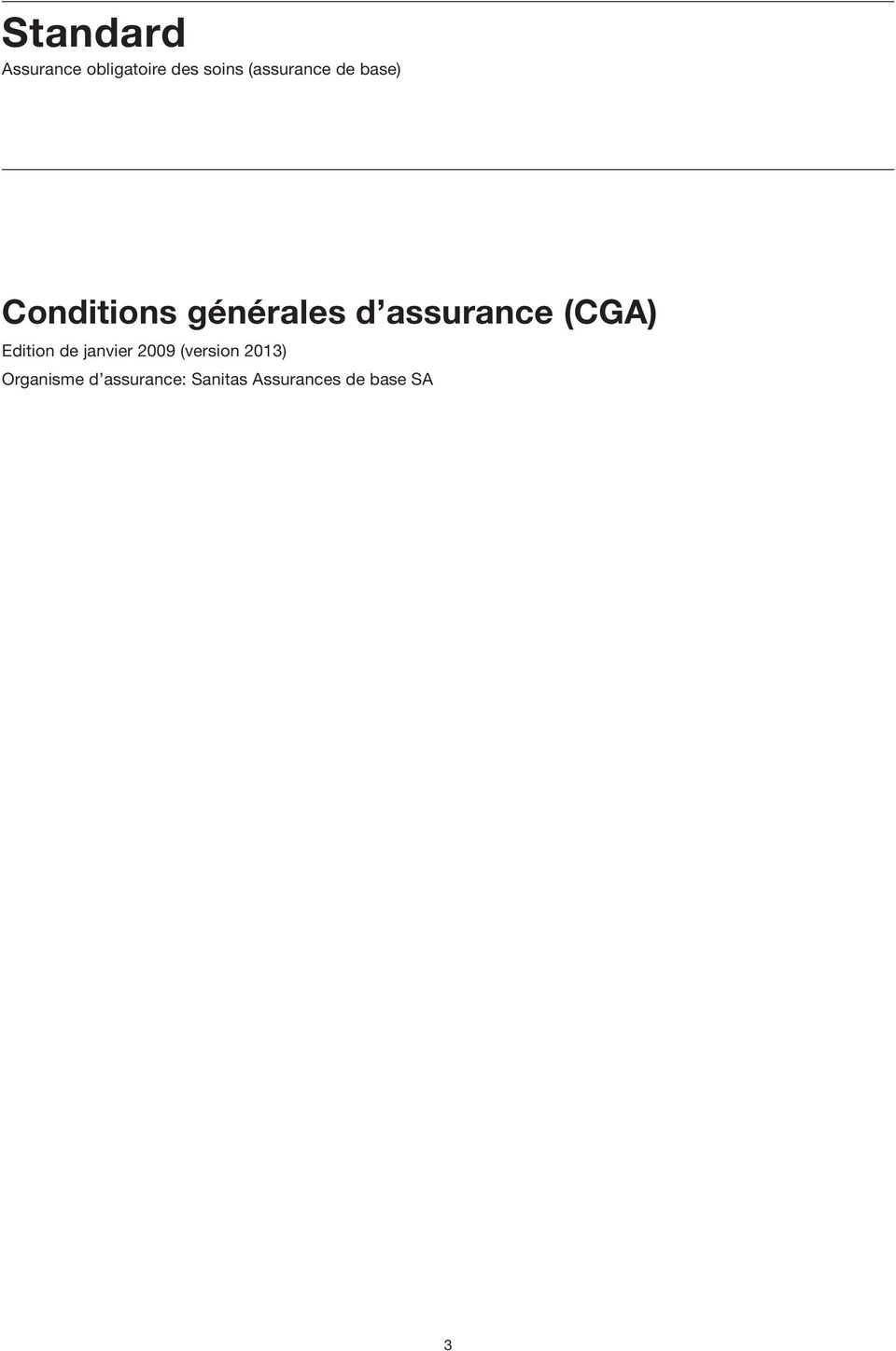 assurance (CGA) Edition de janvier 2009 (version