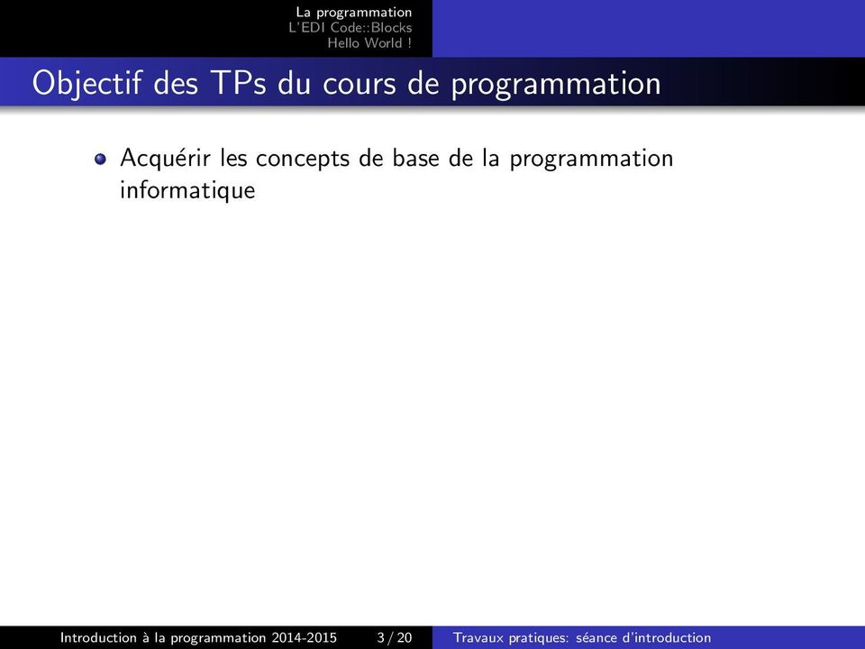 programmation informatique Introduction à la