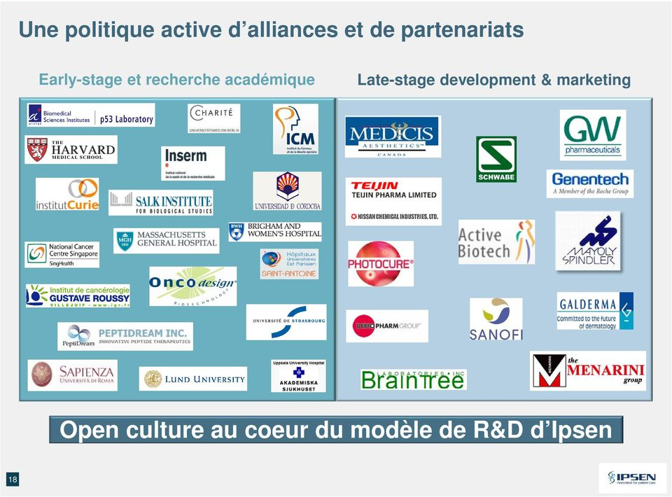 marketing Open culture au coeur du modèle de R&D d Ipsen 18