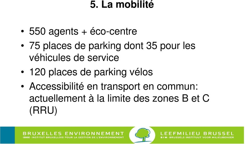 places de parking vélos Accessibilité en transport en