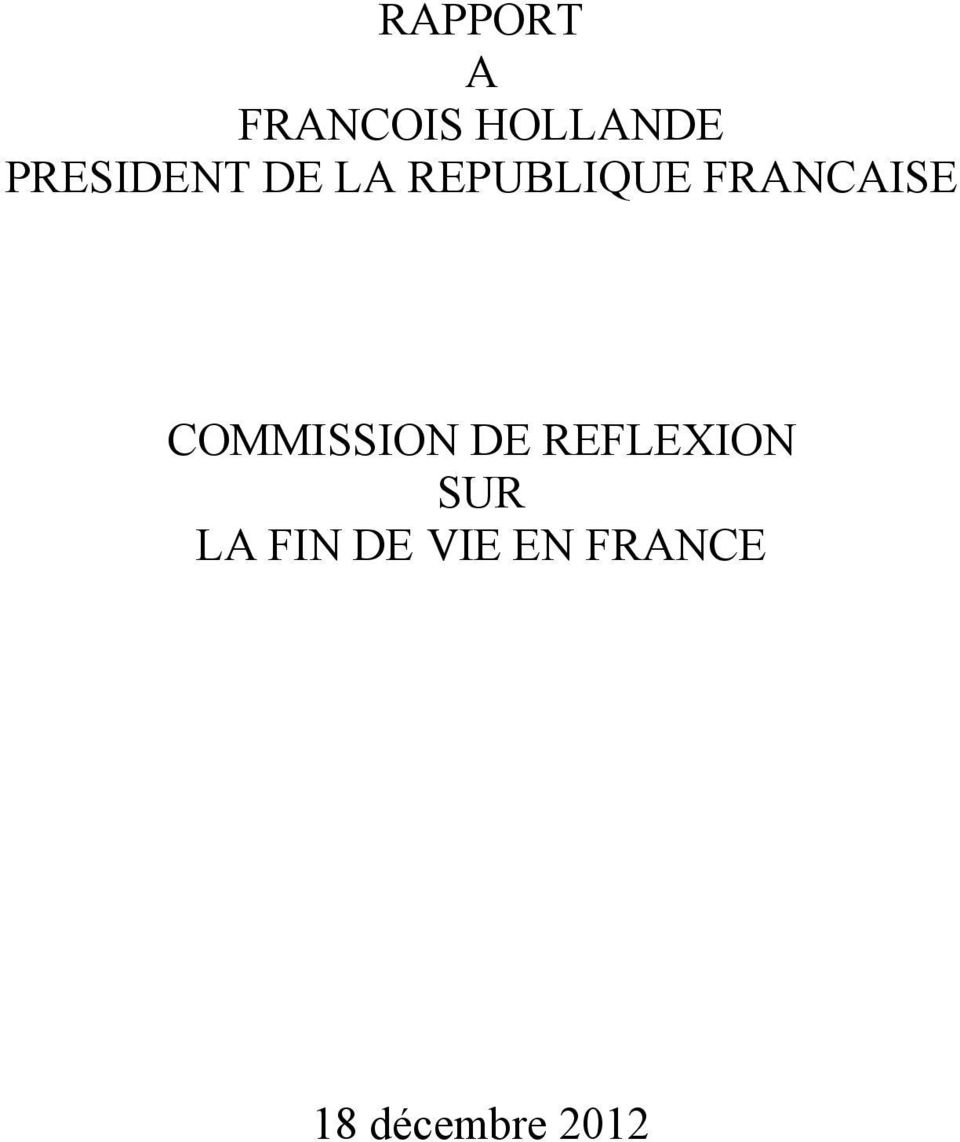 FRANCAISE COMMISSION DE REFLEXION