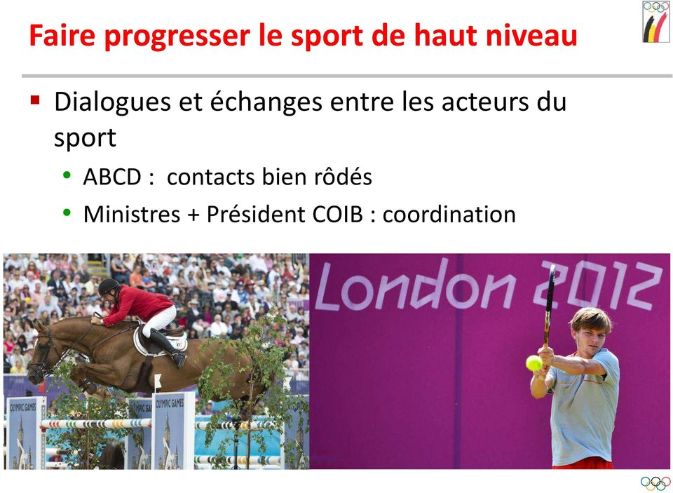 acteurs du sport ABCD : contacts bien