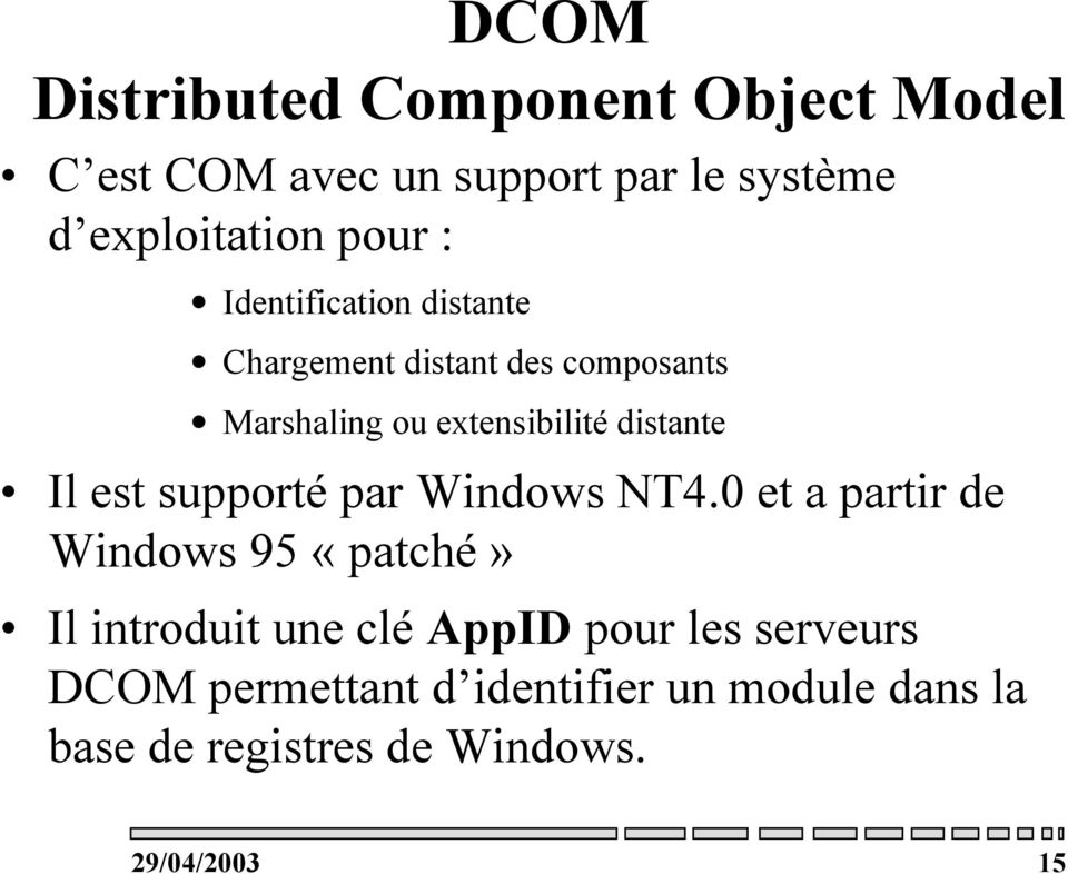 est supporté par Windows NT4.