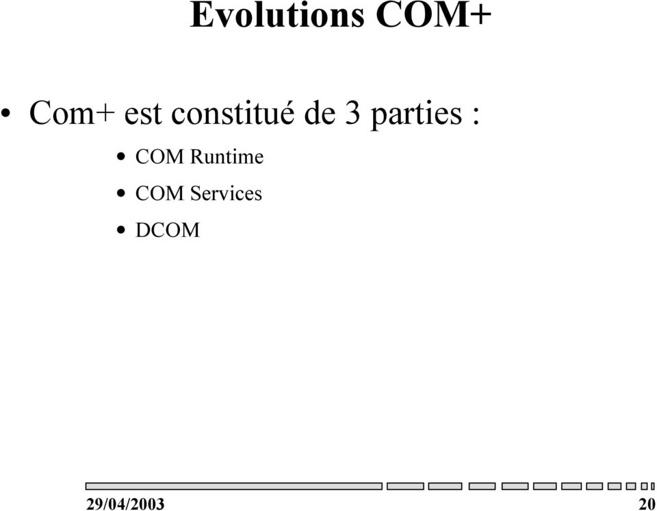 parties : COM Runtime