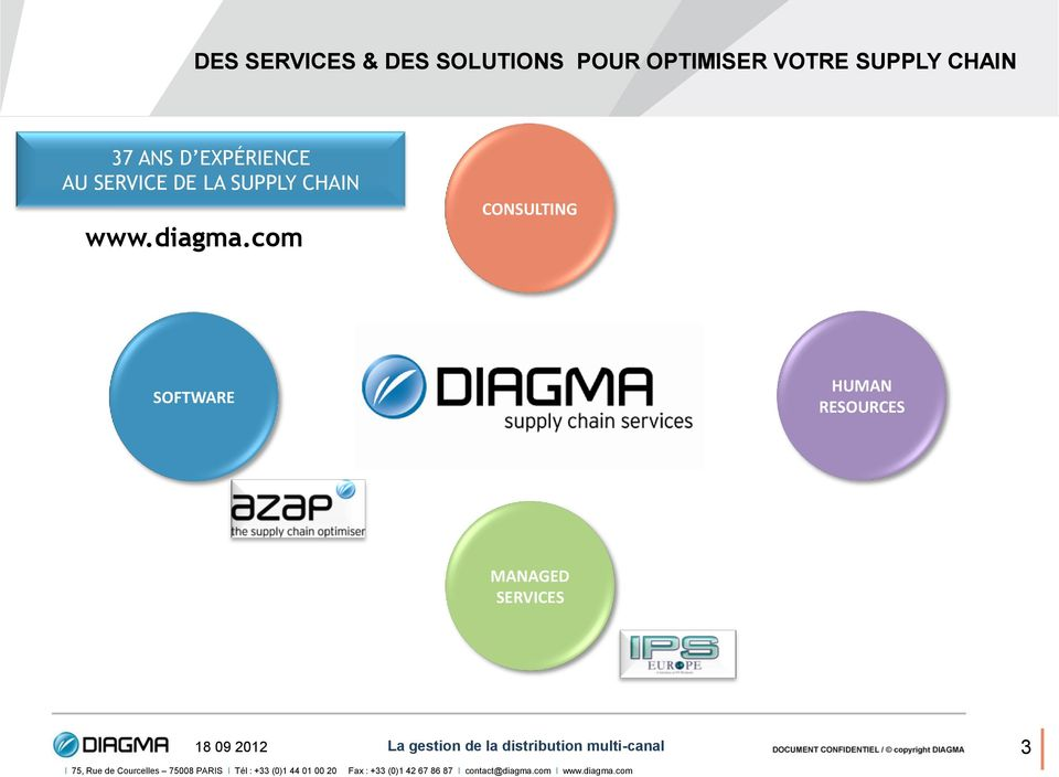 SERVICE DE LA SUPPLY CHAIN www.diagma.