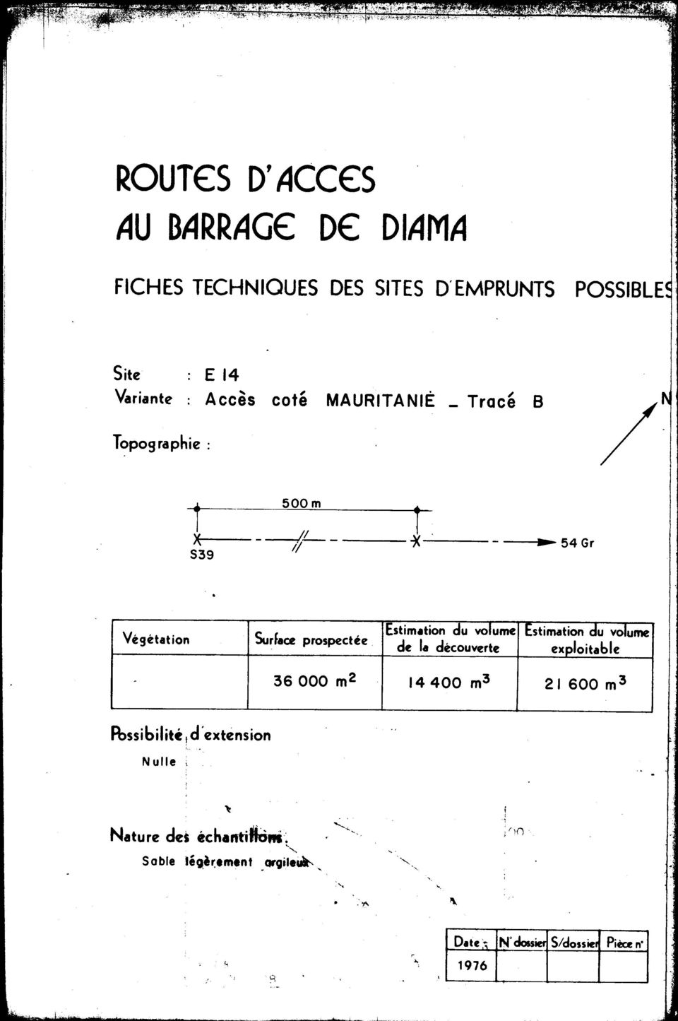 .., 54Gr Surfaœ prospectée Estimtion du volume Estimation cfu volume de la découverte