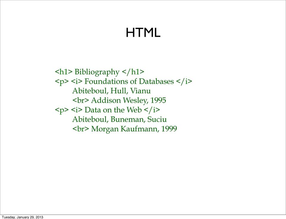 Addison Wesley, 1995 <p> <i> Data on the Web </i>