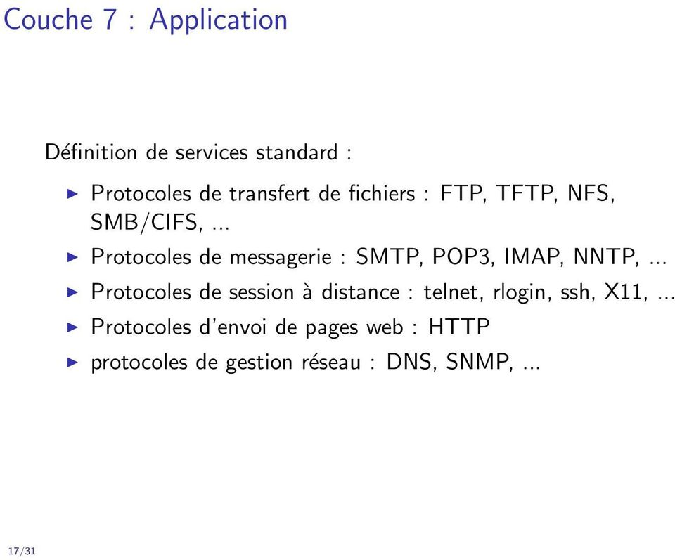 .. Protocoles de messagerie : SMTP, POP3, IMAP, NNTP,.